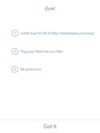 Duet iPad Instructions