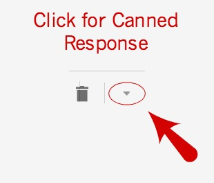 Gmail Canned Response Arrow