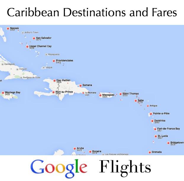 Google Flights Map View