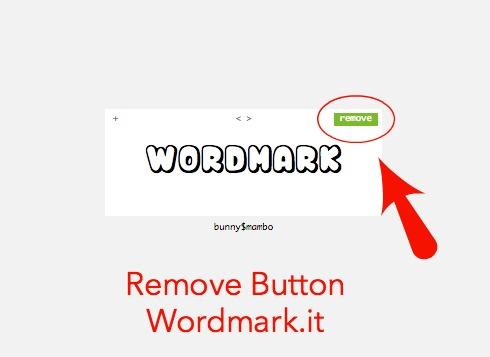 Remove button Wordmark