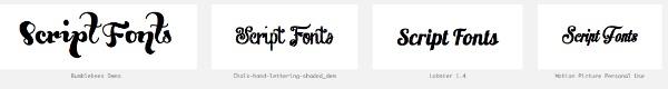 Script Fonts Preview Wordmark