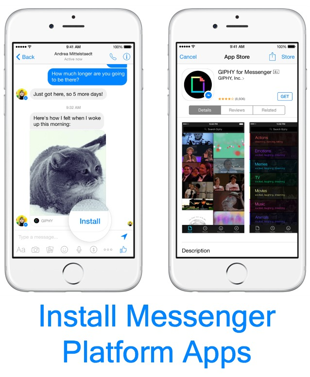 Install Facebook Messenger apps