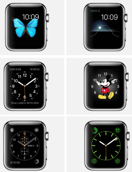 Apple Watch Face Choices