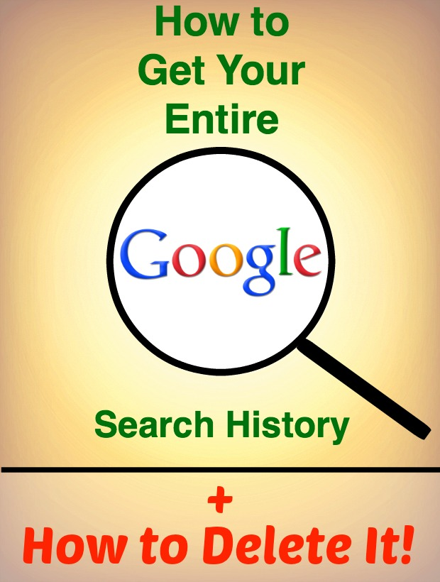 Find Your Google Search History