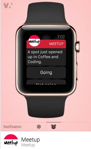 Meet Up App iWatch