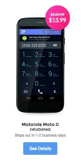 TextNow Motorola Android Phone
