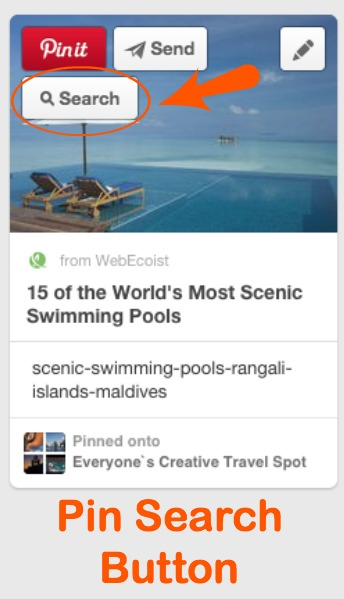 Pinterest Image Search Button
