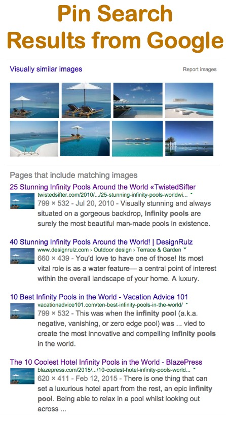 Pin Search Button Google