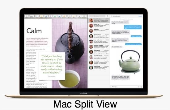 El Capitan Split View Mac