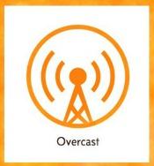 Overcast Podcast app logo