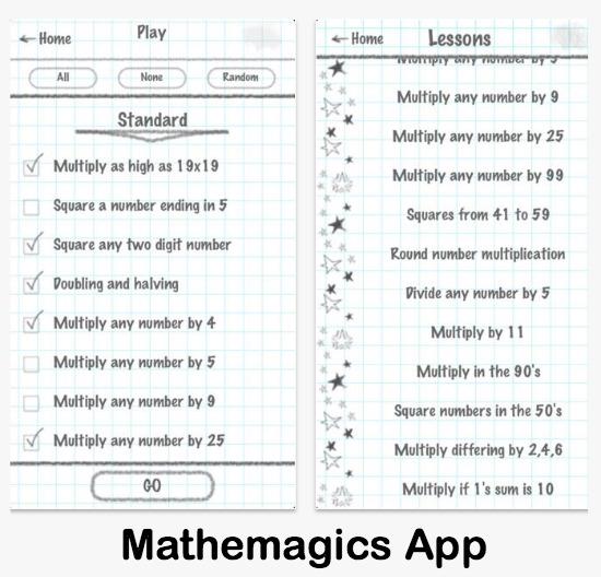 Mathemagics iPhone iPad