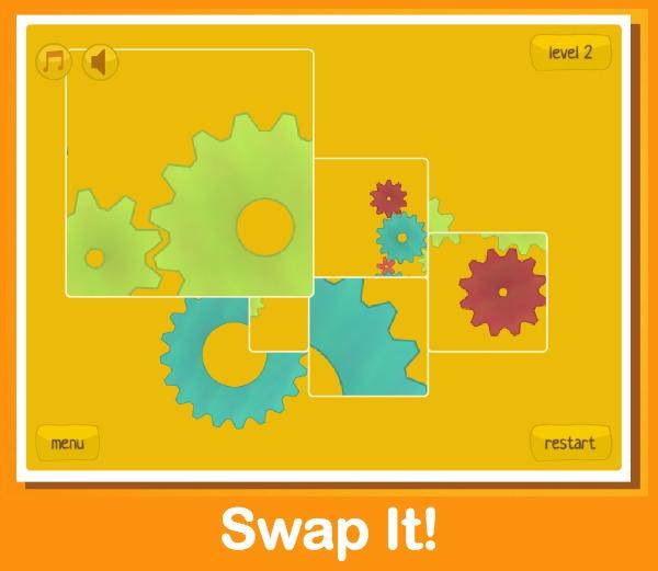 Swap It Gears Puzzle website