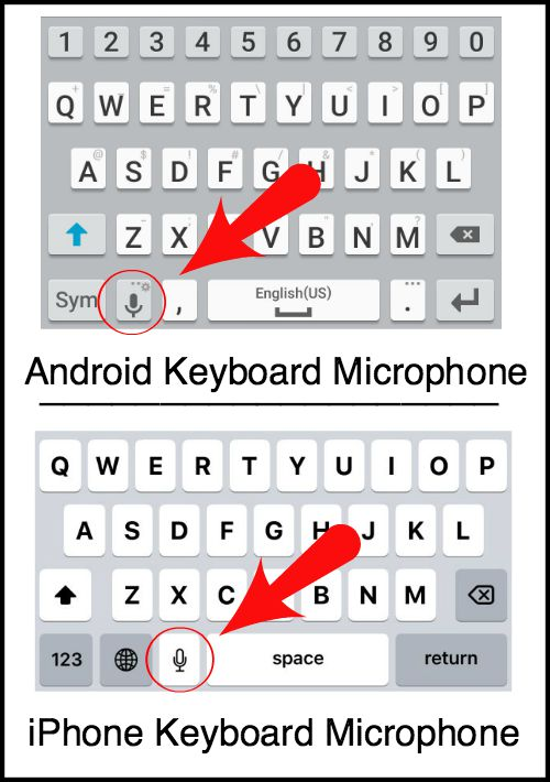 microphone android keyboard
