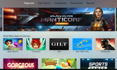 Apple TV Game Apps