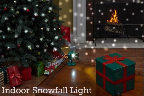 Snow fall light indoors