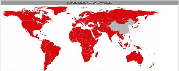 Netflix Expands Map