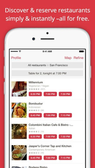 The Ultimate Food App Guide Infographic - Open table app for android
