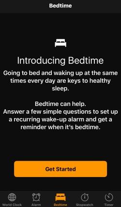 Bedtime Clock App iOS 10