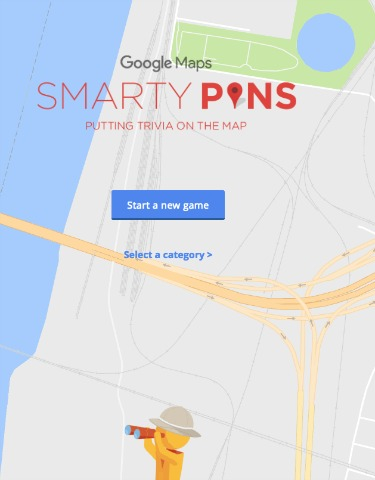 Google Maps Smarty Pins Game
