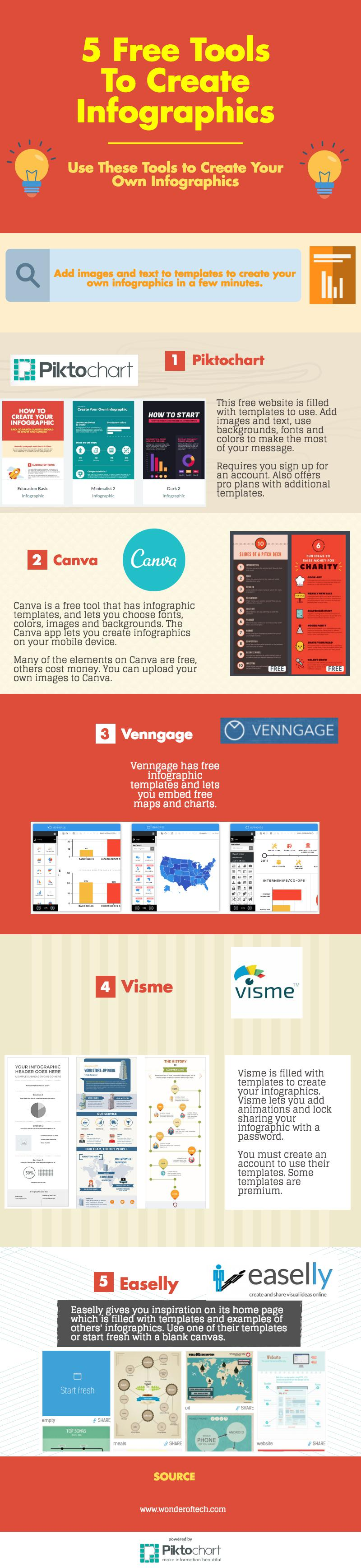Use these free sites to create your own infographics quickly and easily.