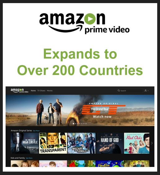 Amazon Prime Video Expands to Over 200 Countries