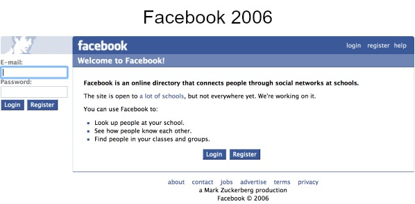 The Wayback Machine Facebook 2006