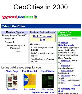 Wayback Machine GeoCities 2000