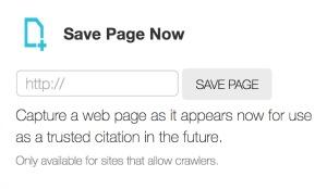 Wayback Machine Save Page Now