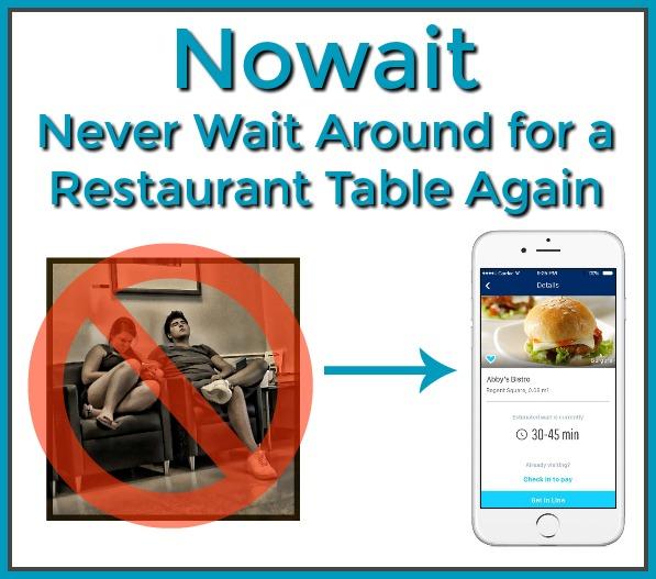 Nowait Never Wait Around For A Restaurant Table Again - Restaurant table app