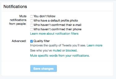 Twitter Notifications Block
