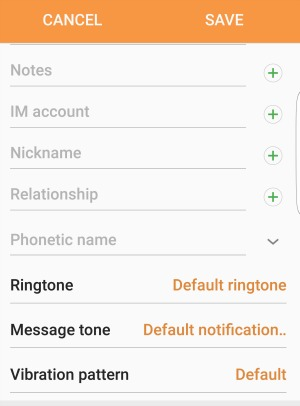 Android Contact Text Tone