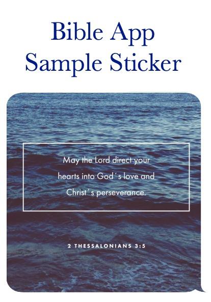 Bible App Sticker Sample