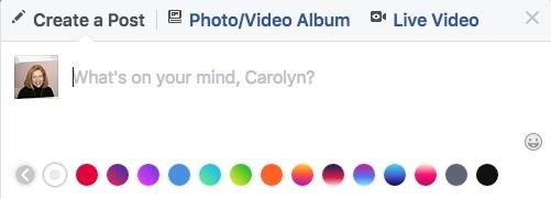 Facebook Color Palette Posts