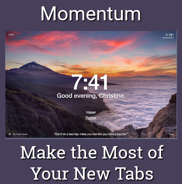 Momentum New Tab Extension