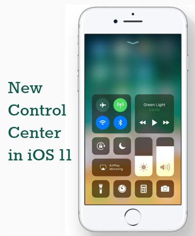 iOS 11 New Control Center