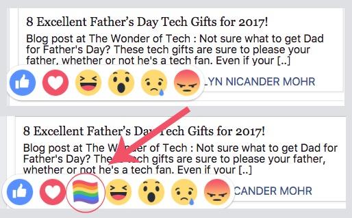 Facebook Rainbow Flag Reaction