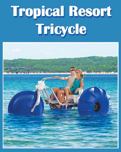 Hammacher Schlemmer Tropical Resort Tricycle