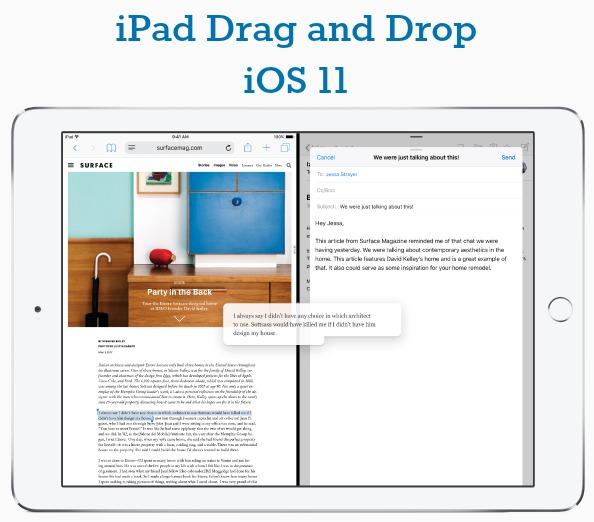 iOS 11 iPad Drag and Drop