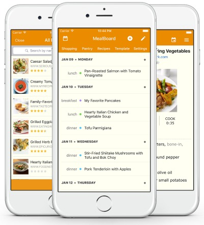 Mealboard App for Meal Planning