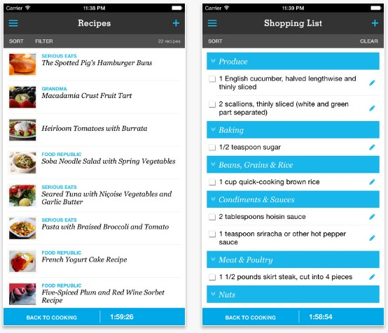 Pepperplate meal planning app