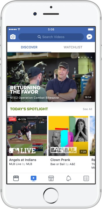 Discover Tab Facebook Watch