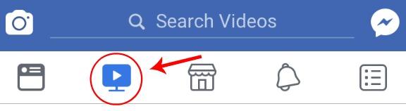 Facebook Watch on Menu