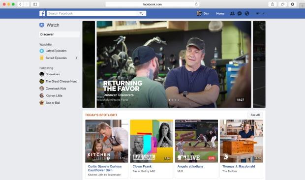 Watchlist for Facebook Watch