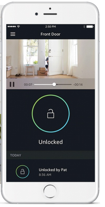 Amazon Key App Unlock Video