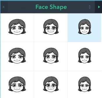 Bitmoji Choosing Face Shapes