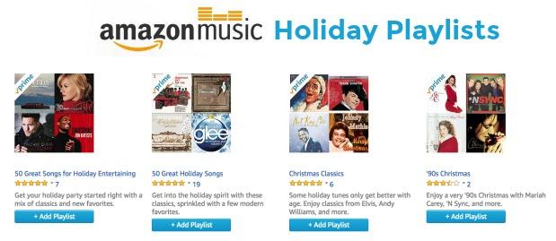 Amazon Prime Music Holiday Playlists