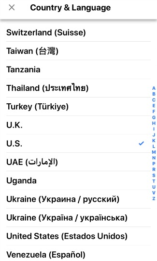 Google News Available Countries and Languages