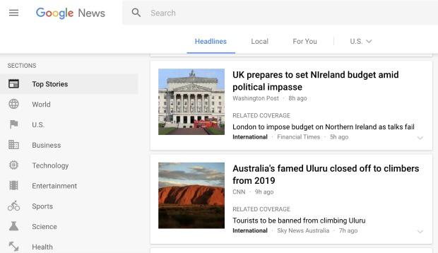 Google News Website