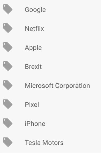 Google News Topics For You