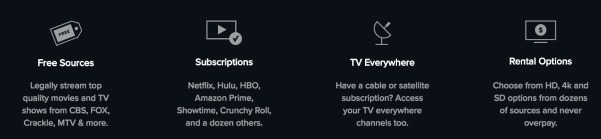 Reelgood rental and streaming options